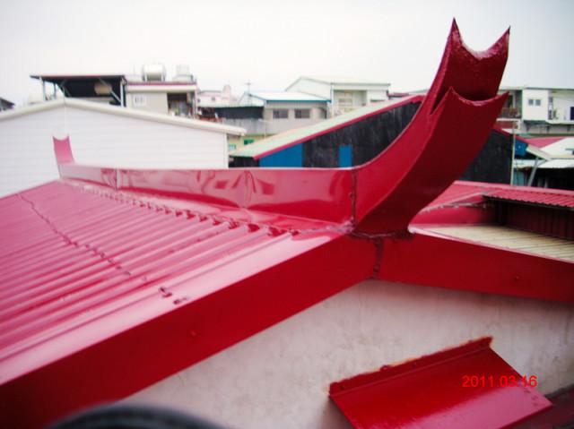 屋顶铁皮屋